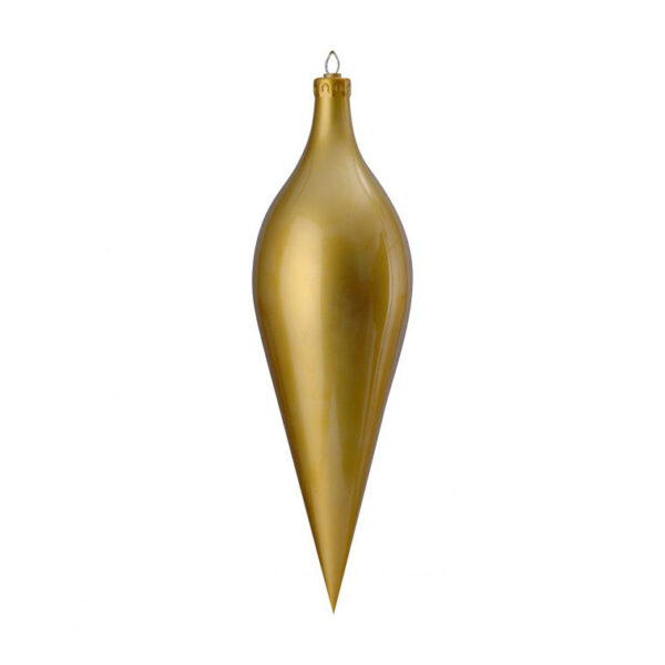 gold high gloss giant drop decoration