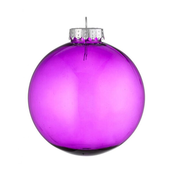 purple clear tinted Christmas bauble