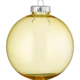 Clear tinted baubles - shatterproof 100mm