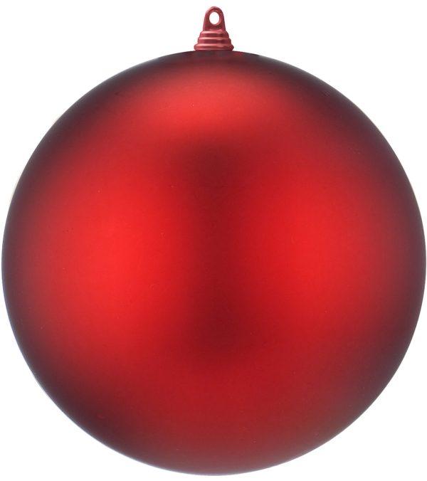 Red Matt Christmas Bauble