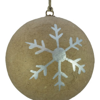 Kraft Baubles - Snowflake