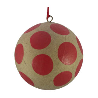 red dots kraft bauble