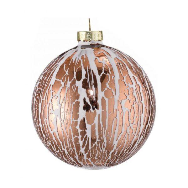 copper oil glaze glass bauble