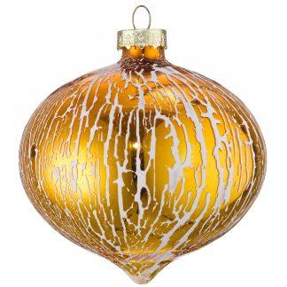 Oil Glaze Glass Onion Baubles