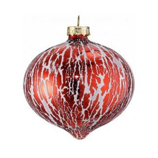 red oil glaze glass onion baubles