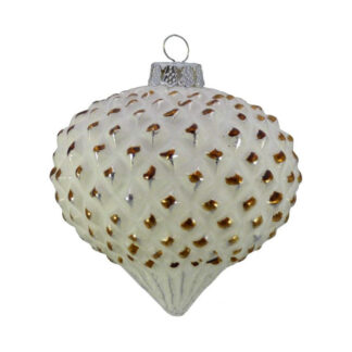 copper tipped glass onion bauble