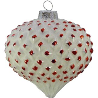 Tipped Glass Onion Baubles