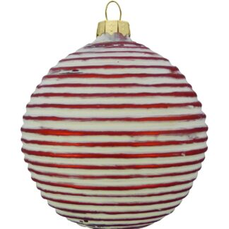 GLASS RIBBED BAUBLE