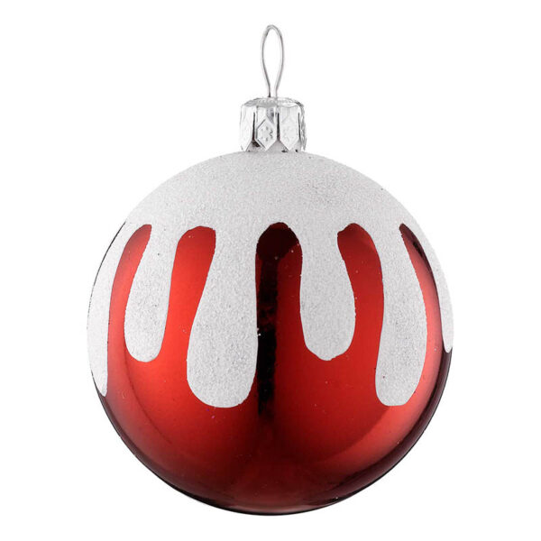 snow topped bauble