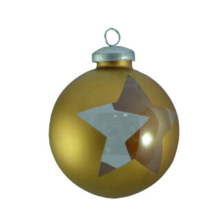 gold cut out star wrap bauble
