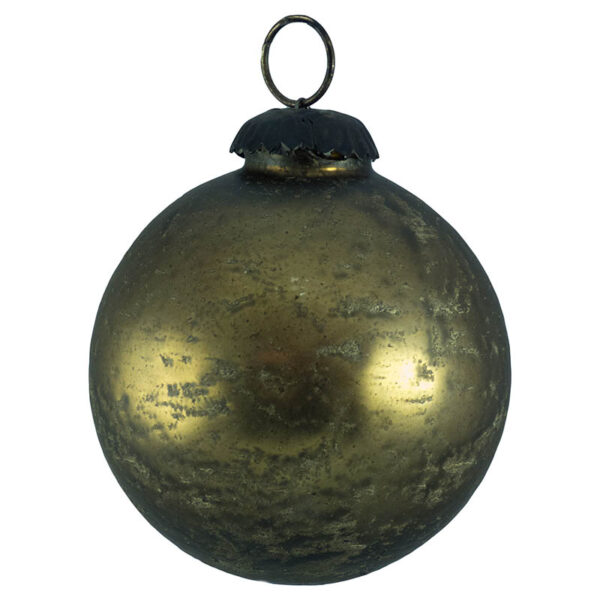 bronze speckled glass bauble