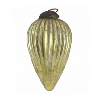 gold glass pine cone bauble