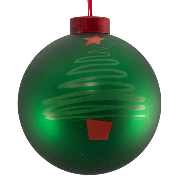 christmas tree green icon bauble