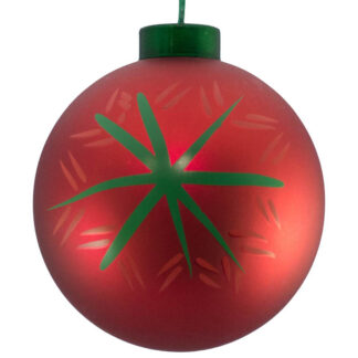 snowflake icon bauble in red