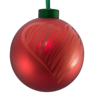 red heart icon bauble
