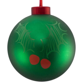 green holly icon bauble
