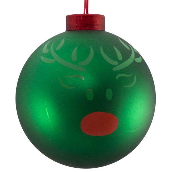 reindeer green icon bauble