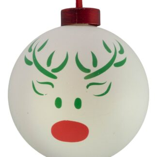 Contemporary Icon Baubles - 80mm - REINDEER