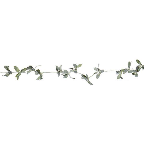 flocked mistletoe garland
