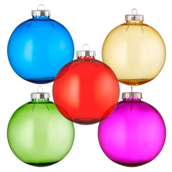 Tinted Glass Style Christmas Baubles