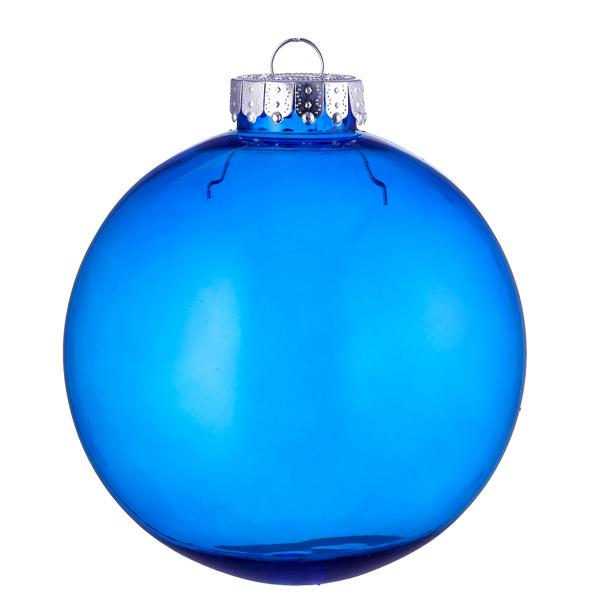 blue tinted glass look bauble