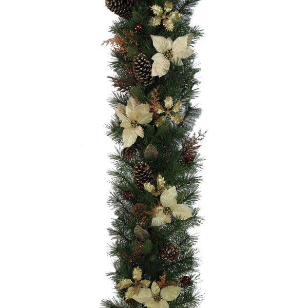 Gold and Bronze Luxury Christmas Garland