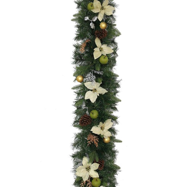 Luxury Garland in Silver and Bronze