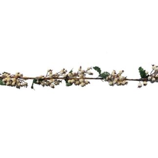 Garland with Cream Berries - 9ft (2.74m)