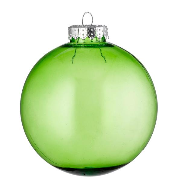 green tinted glass look bauble
