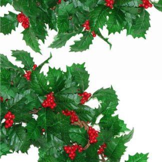 """Holly Christmas Wreath 18"""""""