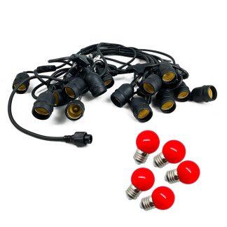 Festoon Lights - Mains Voltage E27 Replaceable Bulbs