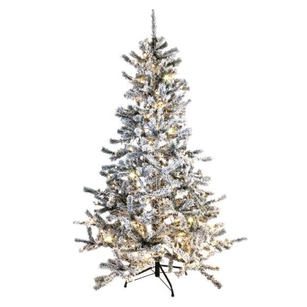 Prelit Flocked Norway Spruce Christmas Tree