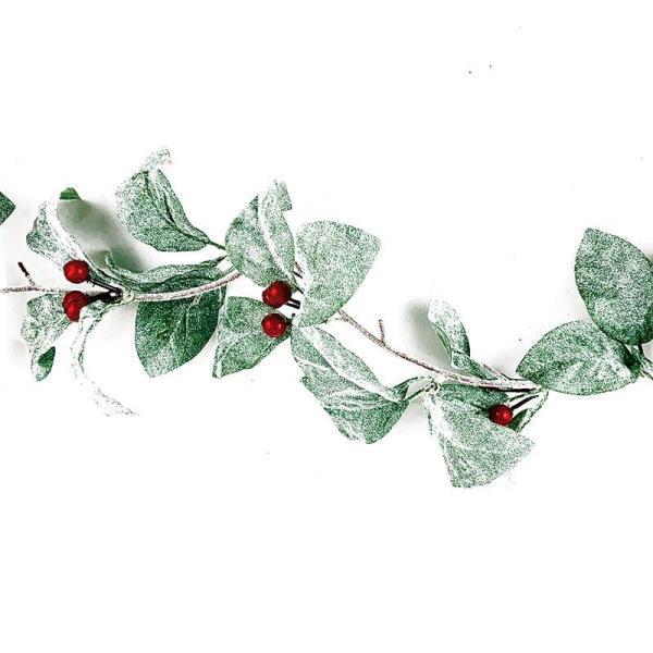 glitter leaf and berry garland