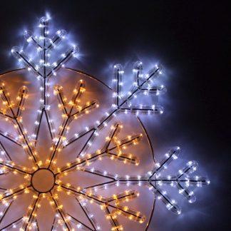 Outdoor LED Festive Display Motif - Snowflake - 230V - 90cm
